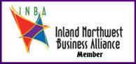 Logo:  INBA (Inland Northwest Business Alliance Member), LGBT Chamber, INBASpokane.org.